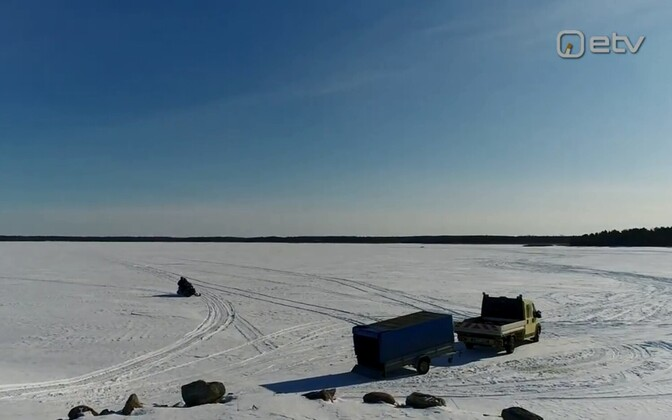 Ice road in Estonia. Photo is illustrative.