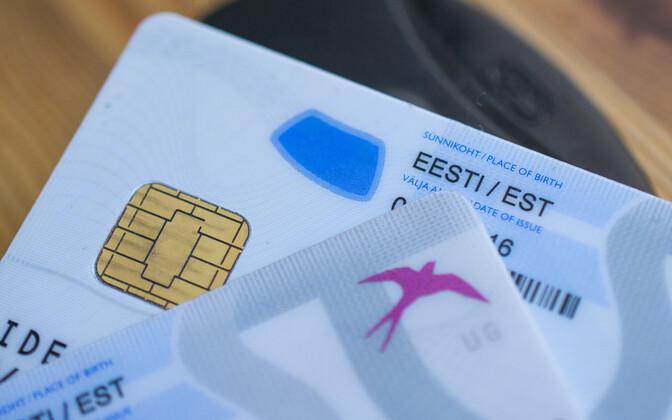 Estonian ID cards.