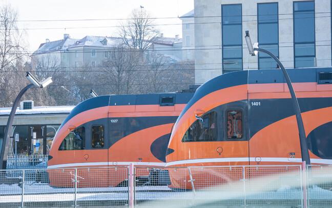 Поезда в Таллинне на Балтийском вокзале.