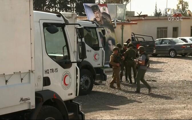 ÜRO abiveokid Süürias Ida-Ghoutas.