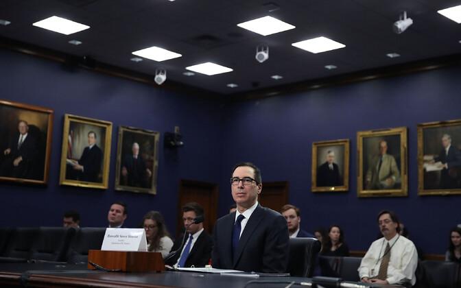 USA rahandusminister Steven Mnuchin senati komitees.