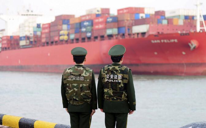 Qingdao sadam Hiinas.