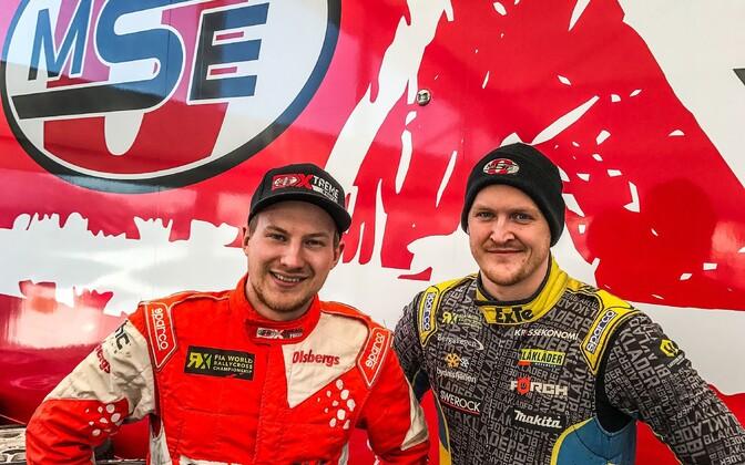 Kevin Eriksson (vasakul) ja Robin Larsson