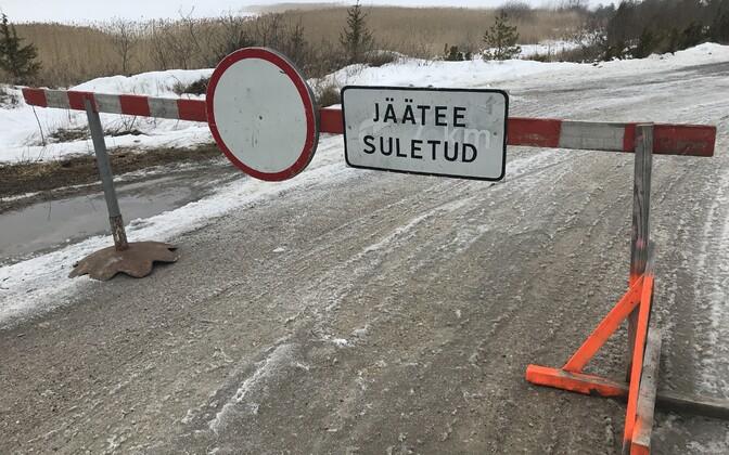 Suletud jääteed.