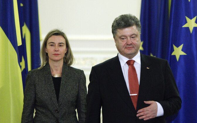 Federica Mogherini ja Petro Porošenko Kiievis.