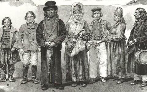 Gravüür Eesti talurahvast 19. sajandi alguses.