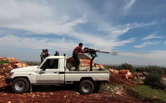 Türgi toetatud Vaba Süüria Armee võitlejad Afrini regioonis.