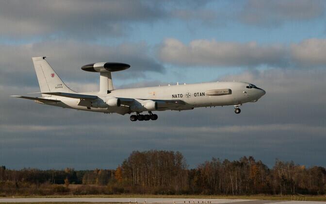 Nato lennuk E-3 AWACS 2016. aastal Ämari lennubaasis.