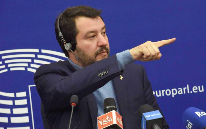 Matteo Salvini pressikonverents Euroopa Parlamendis.