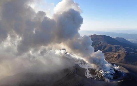 Вулкан Симмоэ в Японии