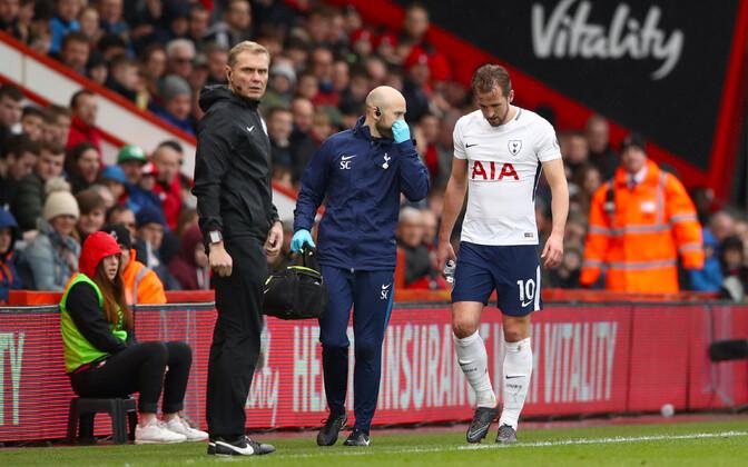 Bournemouthi vastu vigastada saanud Harry Kane.