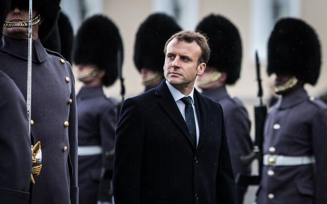 Prantsusmaa president Emmanuel Macron jaanuaris Inglismaal Sandhursti sõjaväeakadeemias.