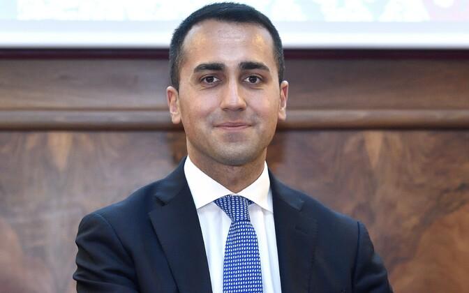 Viie Tähe Liikumise juht Luigi Di Maio.