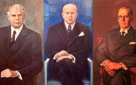 Hans Kruus, Edgar Kant, Hugo Kaho.