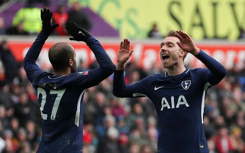 Lucas Moura ja Christian Eriksen (Tottenham Hotspur)