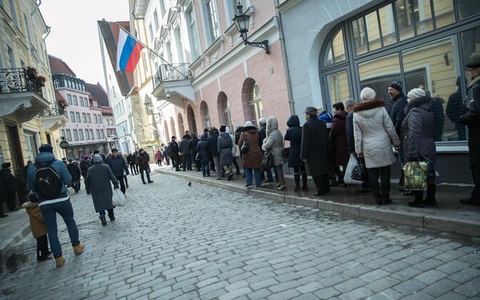 Находящиеся вЭстонии жители России смогут проголосовать вНарве, Тарту иТаллине