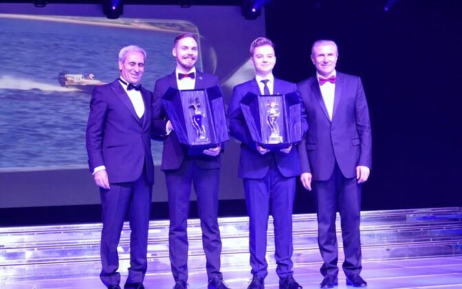 Raffaele Chiulli, Rasmus Haugasmägi, Stefan Arand ja Sergei Bubka.