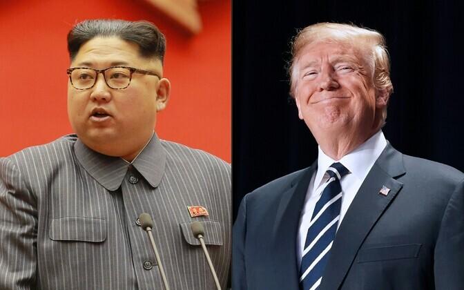 Põhja-Korea liider Kim Jong-un ja USA president Donald Trump.