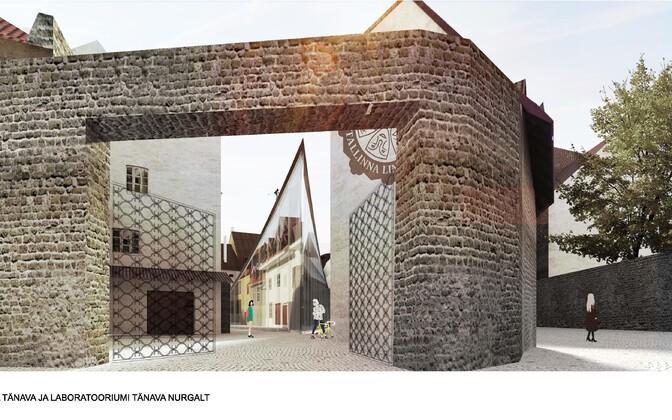 Tallinna Linnateatri uue hoone arhitektuurikonkursi võidutöö