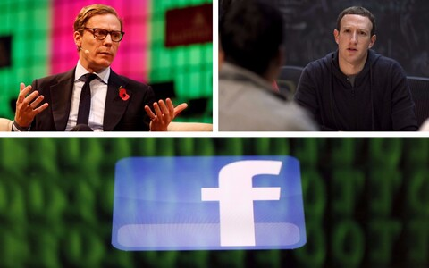Cambridge Analytica juht Alexander Nix (Reuters) ja Facebooki asutaja Mark Zuckerberg (AFP).