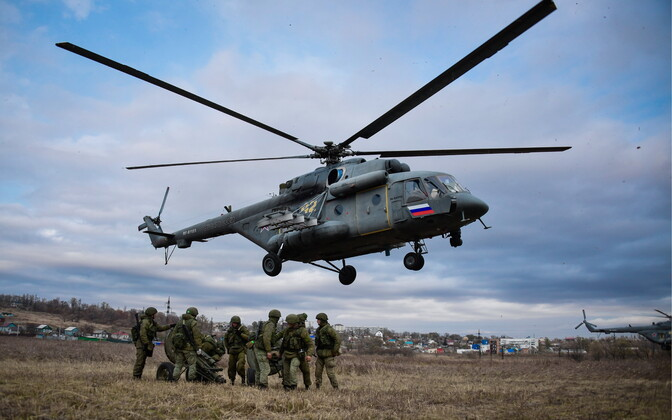 At an exercise of the Russian military. Image is illustrative