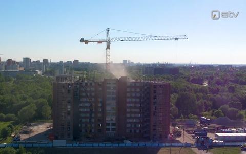 Eesti suurim uusehitus Lasnamäel – pildil veel ehitusjärgus.
