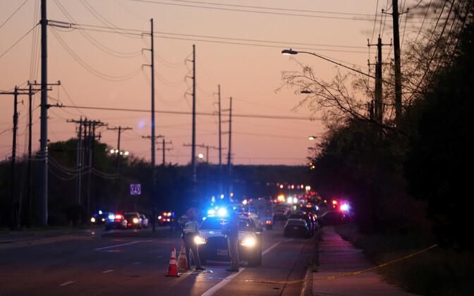 Sündmuskoht Austini lähistel.