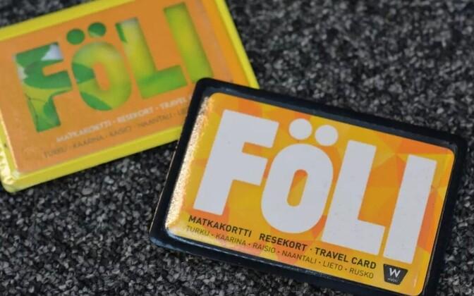 Föli-bussides kasutusel olev kaart.