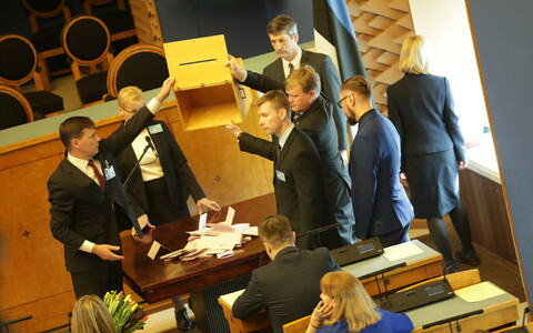 Ballots at the Riigikogu board elections on Thursday. March 22, 2018.