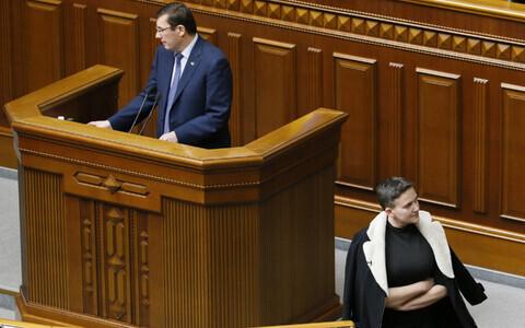 Генпрокурор Украины Юрий Луценко и депутат Надежда Савченко 22 марта в Верховной Раде.