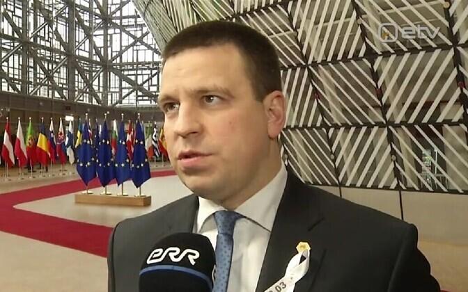 Jüri Ratas in Brussels.