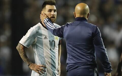 Lionel Messi ja Jorge Sampaoli
