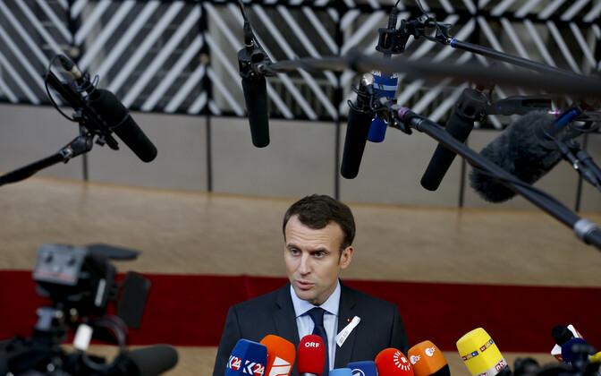 Macron Brüsselis.