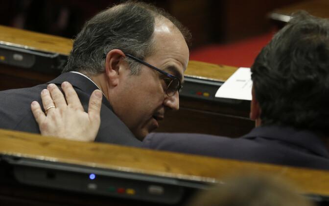 Jordi Turull pärast hääletust Kataloonia parlamendis.