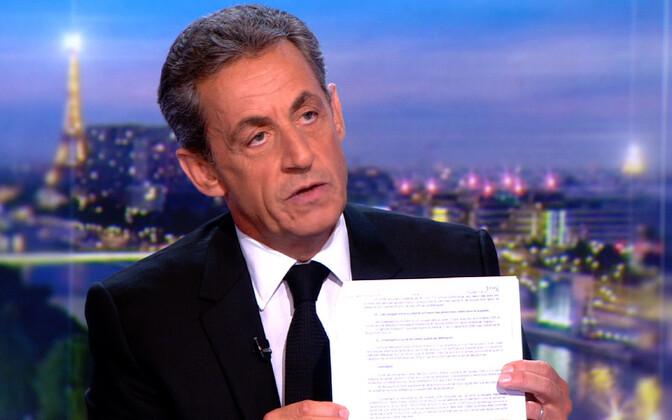 Ekspresident Nicolas Sarkozy 22. märtsil TF1 eetris.
