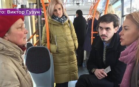 Бесплатные юридические консультации эстонских специалистов в кишиневском троллейбусе.