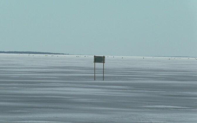 Jäätunud Peipsi järv.