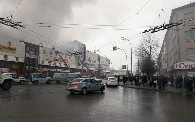 Пожар в торгово-развлекательном центре
