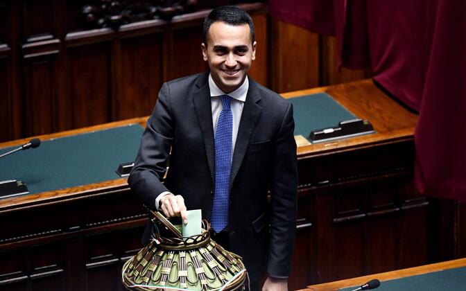 Viie Tähe Liikumise (M5S) juht Luigi Di Maio 23. märtsil parlamendi alamkoja spiikri valimistel.