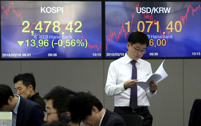 Töö Lõuna-Korea börsil.