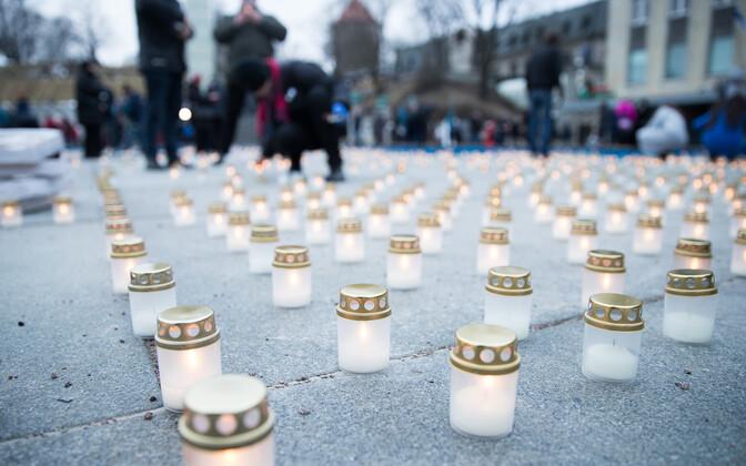 На площади Вабадузе почтили память депортированных