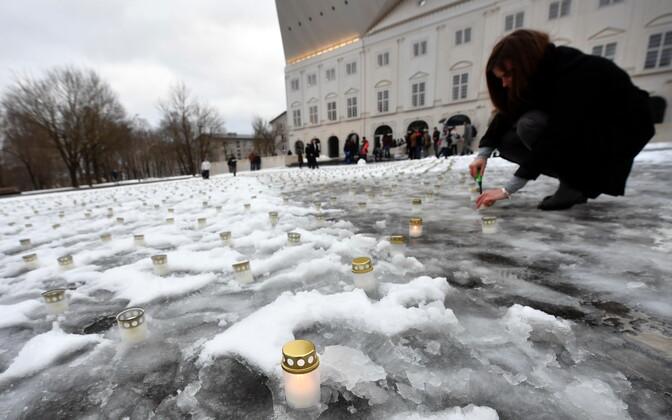 В Нарве почтили память жертв мартовской депортации.