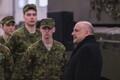 British Secretaryof State forDefence Gavin Williamson at Tapa Army Base on Sunday. March 25, 2018.