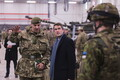 British Secretary of State for Defence Gavin Williamson at Tapa Army Base on Sunday. March 25, 2018.