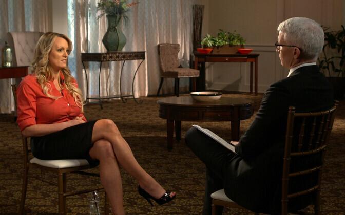 CBS-i avaldatud foto Anderson Cooperi intervjuust Stephanie Cliffordi ehk Stormy Danielsiga.