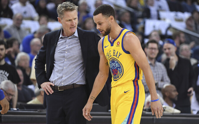 Steve Kerr ja Stephen Curry