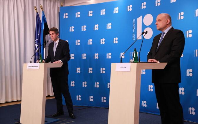 Briti kaitseminister Gavin Williamson ja Eesti kaitseminister Jüri Luik