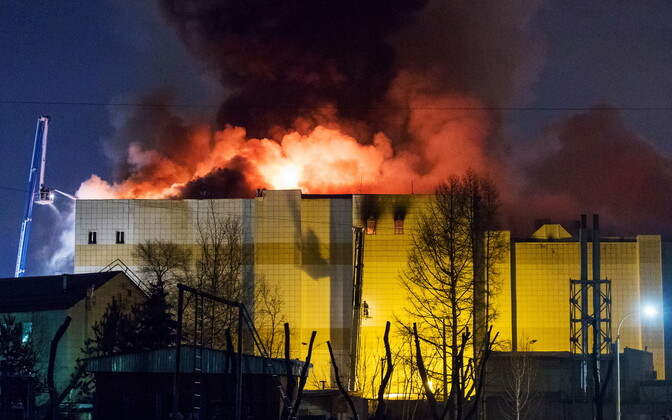 Deadly fire at a shopping mall in Kemerovo, Russia on Sunday. March 25, 2018.