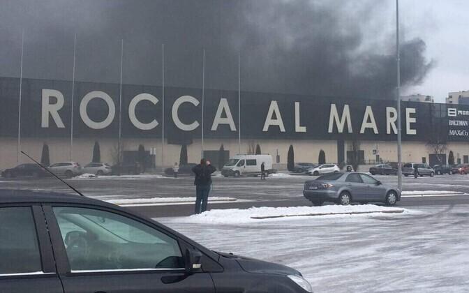 Пожар в  Rocca al Mare в феврале 2018 года: обошлось без жертв.