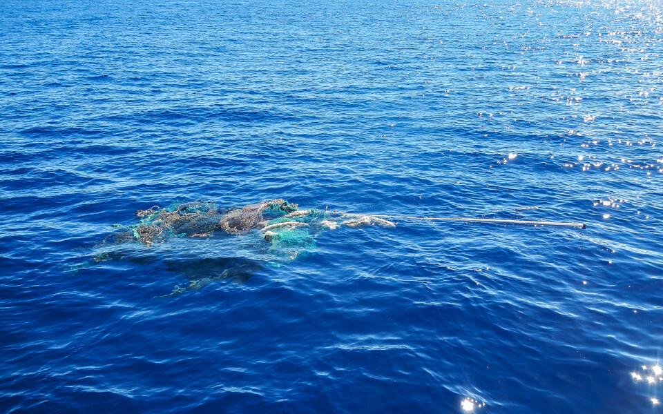 Suure osa plastprügi massist moodustasid vanad kalavõrgud.